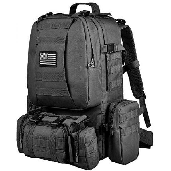 NOOLA Tactical Backpack 1 NOOLA Tactical Military Backpack Army Assault Pack Molle Bag Built-up Rucksack