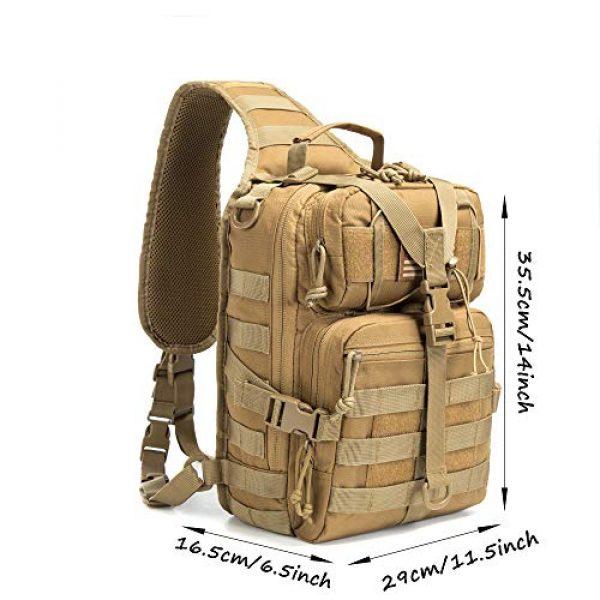 SHELCUP Tactical Backpack 6 SHELCUP EDC Sling Bag Pack, Rover Shoulder Molle Backpack, with USA Flag Patch