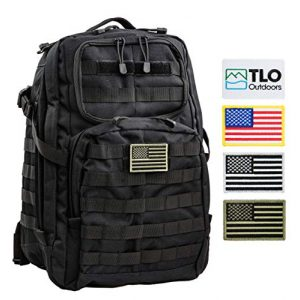 TLO Outdoors Tactical Backpack 1 TLO TacPack24 Tactical Backpack - 40L Storage Daypack, Rucksack with MOLLE, Patches