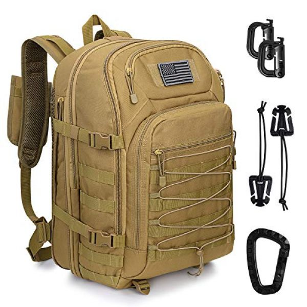 G4Free Tactical Backpack 1 G4Free Expandable Tactical Backpack Military Shoulder Pack 45L-50L Army Molle 3 Day Assault Rucksack