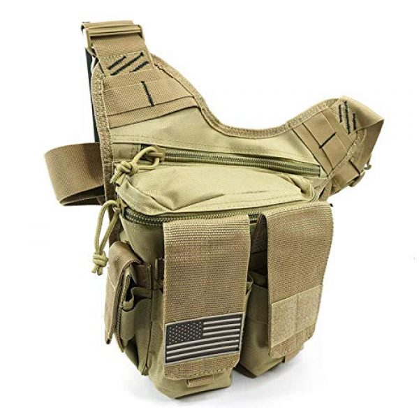 K-Cliffs Tactical Backpack 1 Rapid Deployment Push Pack Tactical Range Bag Responders Utility Sling Bags Tan