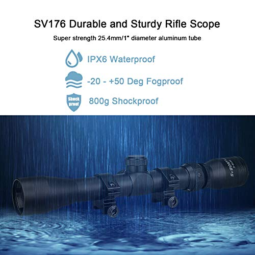 SVBONY Rifle Scope 7 SVBONY SV176 Rifle Scopes,3-9x32mm Sight Scope,Dioptre Adjustable IPX6 Waterproof Shockproof with 20/22mm Rangefinder Scope for Outdoor Sports Activities