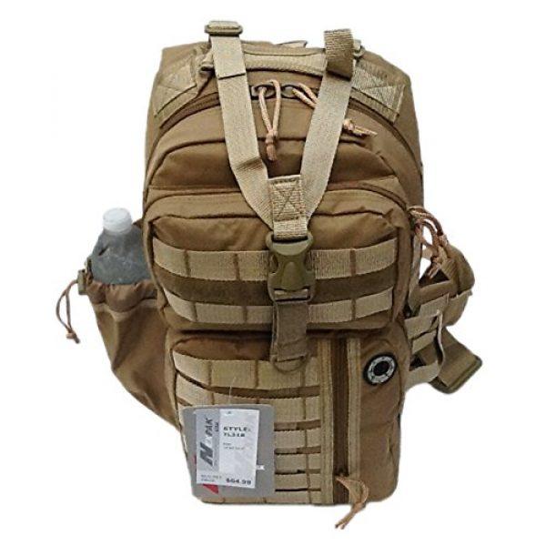 "Nexpak Tactical Backpack 7 18"" 1200cu. in. Tactical Sling Shoulder Hiking Backpack TL318 TAN"