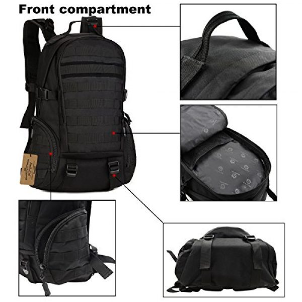 ArcEnCiel Tactical Backpack 3 ArcEnCiel Tactical Backpack Military Army Day Assault Pack Molle Bag with Patch - Rain Cover Included