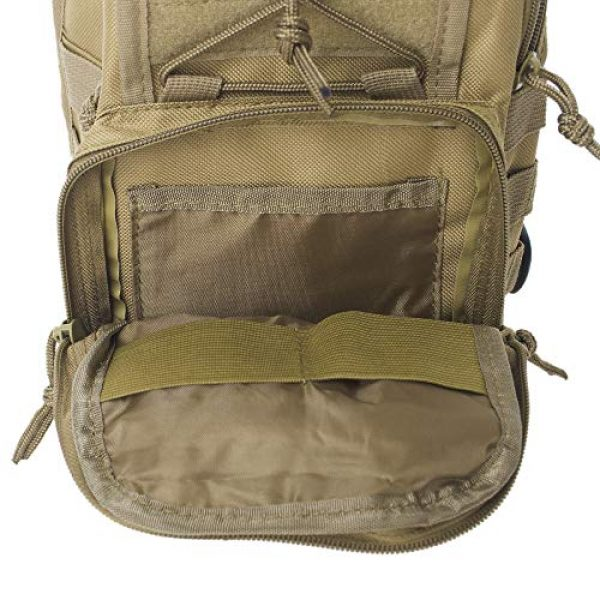 TOPTIE Tactical Backpack 5 TOPTIE Tactical Sling Bag, EDC Molle Sling Bag Range Bag, Camping Hiking Trekking