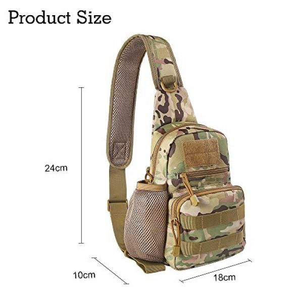 EDOBIL Tactical Backpack 7 EDOBIL Tactical Bag, Messenger Bag Best Outdoor Sling Bag for Men and Women - Small One Military Bag for Trekking,Camping,Hiking,Cycling Rover Sling Daypack