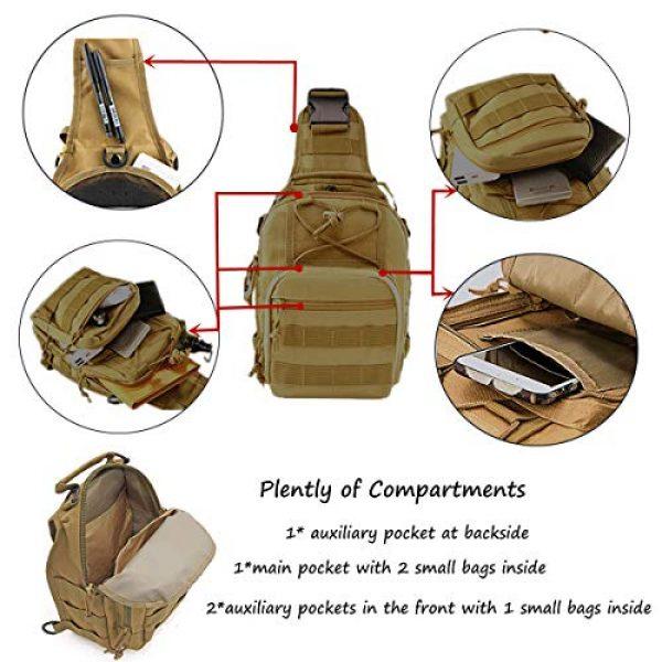 "LBlanco Tactical Backpack 3 LBlanco Tactical Shoulder Sling Bag Small Outdoor Chest Pack for Men Traveling, Trekking, Camping, Rover Sling Daypack """