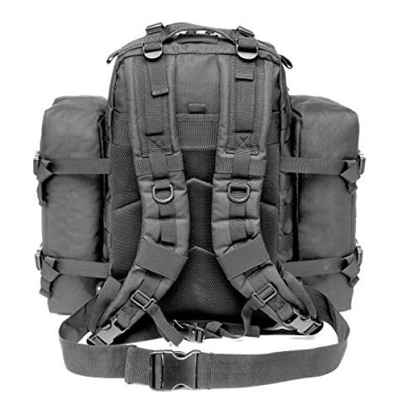 CRAZY ANTS Tactical Backpack 2 CRAZY ANTS Military Tactical Backpack Waterproof Outdoor Gear for Camping Hiking,Black + 2 Detachable Packs