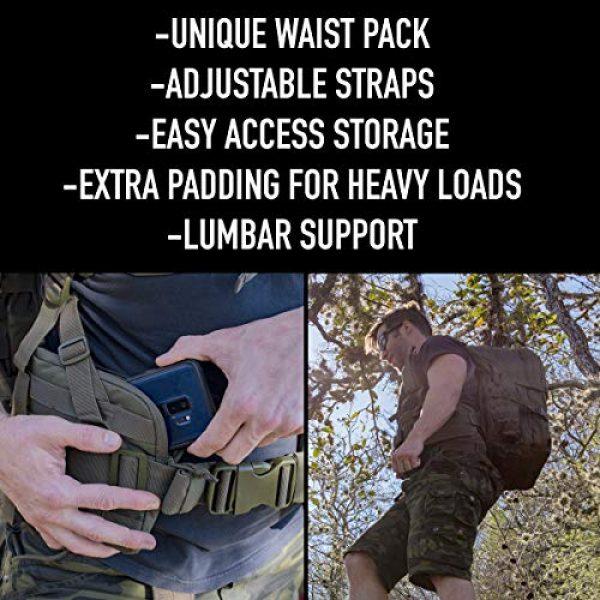 """Explorer Tactical Backpack 4 Explorer 22"""" Waist Gun PouchesTactical Backpack"""