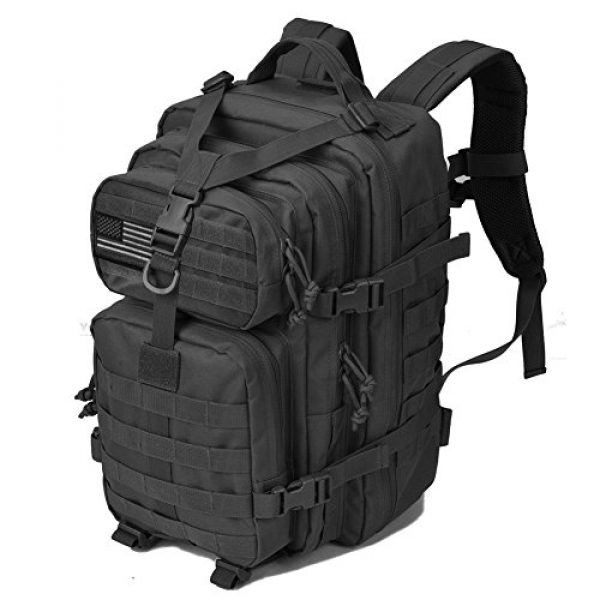 REEBOW GEAR Tactical Backpack 2 REEBOW GEAR Military Tactical Backpack Large Army 3 Day Assault Pack Molle Bug Bag Backpacks Rucksacks for Outdoor Sport Hiking Camping Hunting 40L Black