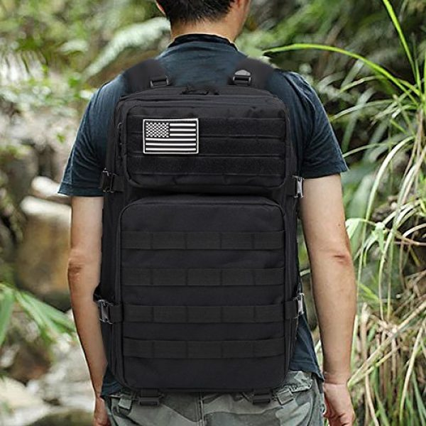 Brainzon Tactical Backpack 7 45L Military Tactical Backpack Large 3 Day Assault Pack Army Molle Bug Out Bag Backpacks Waterproof Rucksacks Daypack