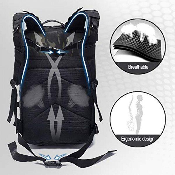 Monoki Tactical Backpack 4 Monoki Military Tactical Backpack, Army 3 Day Assault Pack,42L Molle Bag Rucksack