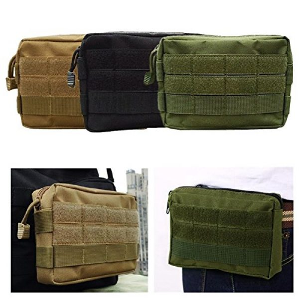 FIRECLUB Tactical Backpack 6 FIRECLUB MOLLE Pouches - Tactical EDC Compact Multi-Purpose Water-Resistant Utility Gadget Gear Hanging Waist Bags