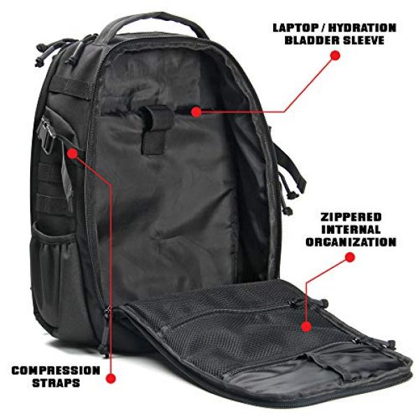 14er Tactical Tactical Backpack 3 14er Tactical Backpack   35L Rucksack, 3-Day Bug Out Bag   YKK Zippers & MOLLE