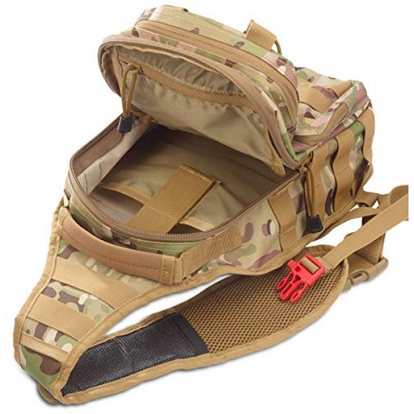 EverTac Tactical Backpack 3 Small Tactical Shoulder Sling Pack w/Molle EDC (CP MultiCam)