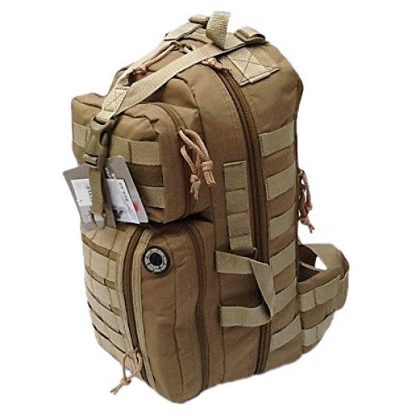 "Nexpak Tactical Backpack 3 18"" 1200cu. in. Tactical Sling Shoulder Hiking Backpack TL318 TAN"
