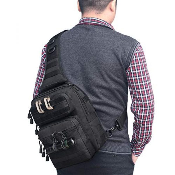 Tacticool Tactical Backpack 6 Tactical Sling Bag Pack Military Rover Shoulder Sling Backpack Molle Assault Range Bags Chest Pack Day Pack Diaper Bag