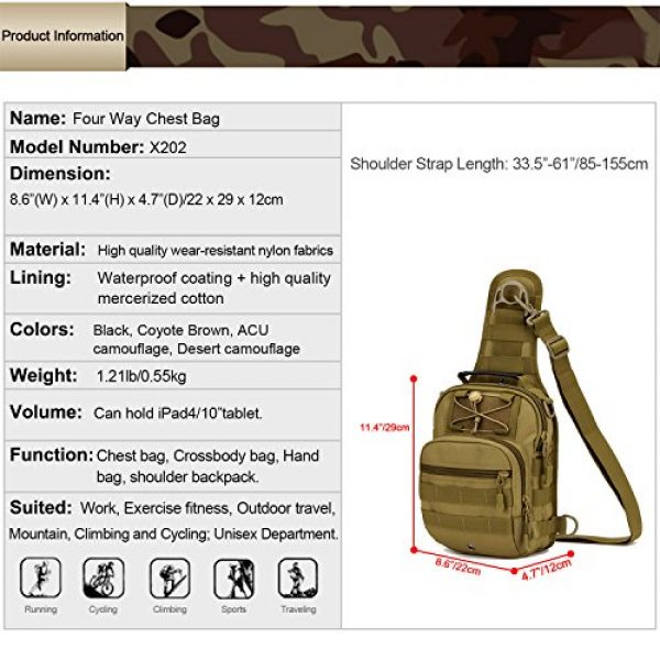 Huntvp Tactical Backpack 2 Huntvp Tactical Military Sling Chest Daypack Backpack for Hunting, Camping and Trekking