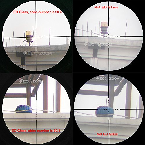 SECOZOOM Rifle Scope 4 SECOZOOM Optics ED Lens Sharp Clear View 4-50X75 Mil-dot Glass-etched Matte SF ED Glass FMC Long Range Riflescope
