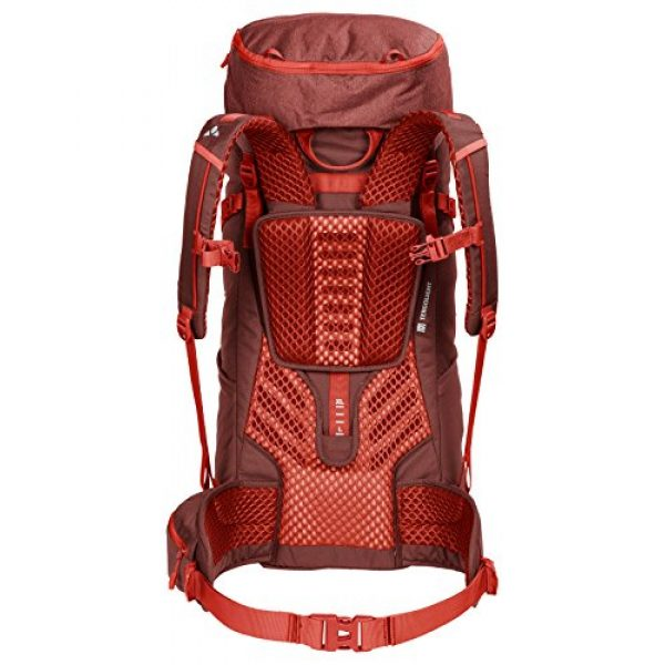 VAUDE Tactical Backpack 2 VAUDE Asymmetric 42+8 Backpack - Lightweight Touring Backpack for Multi-Day Hikes, Trekking and Backpacking - Adjustable Suspension System - 50 Litre Volume
