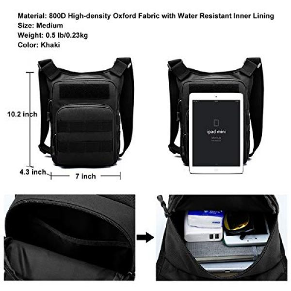 BraveHawk OUTDOORS Tactical Backpack 7 BraveHawk OUTDOORS Shoulder Messenger Bag, 800D Military Nylon Oxford Water Resistant EDC MOLLE Tactical Crossbody Pack Outdoor Daypack Organizer
