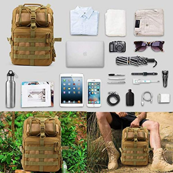 FUNANASUN Tactical Backpack 6 FUNANASUN Tactical Sling Backpack Bag Military Molle Assault Pack Rucksack Daypack for Outdoors Camping Hiking Hunting