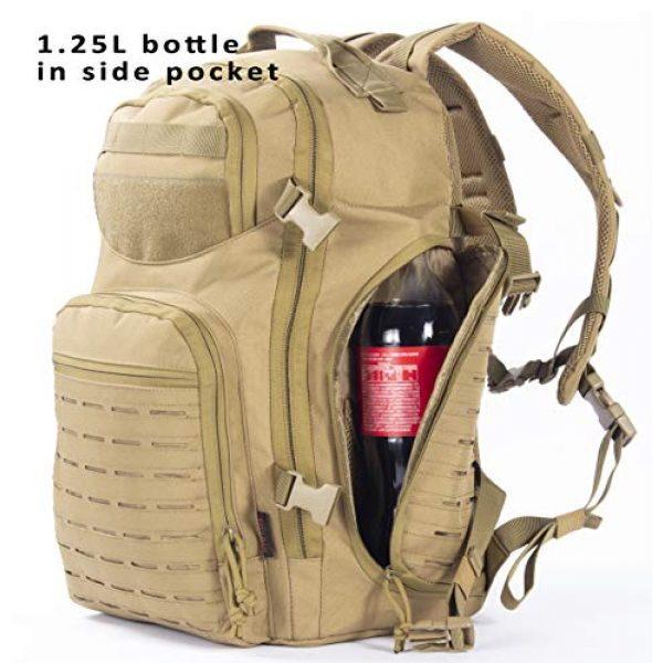 XMILPAX Tactical Backpack 2 Military Tactical Backpack Bugout Bag Lazer Cut MOLLE Hiking Backpack Daypack EDC Pack 40L