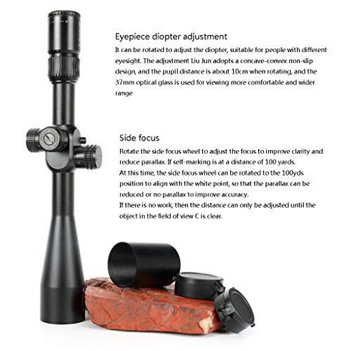 WSHA Rifle Scope 4 WSHA 6-24X50 First Focal Plane Rifle Scope - 30mm Hunting Sniper Optical Sight, Precision Shooting, Adjustable Objective