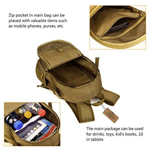 ArcEnCiel Tactical Backpack 6 ArcEnCiel Small Tactical Backpack Military MOLLE Daypack Gear Assault Pack School Camping Bag