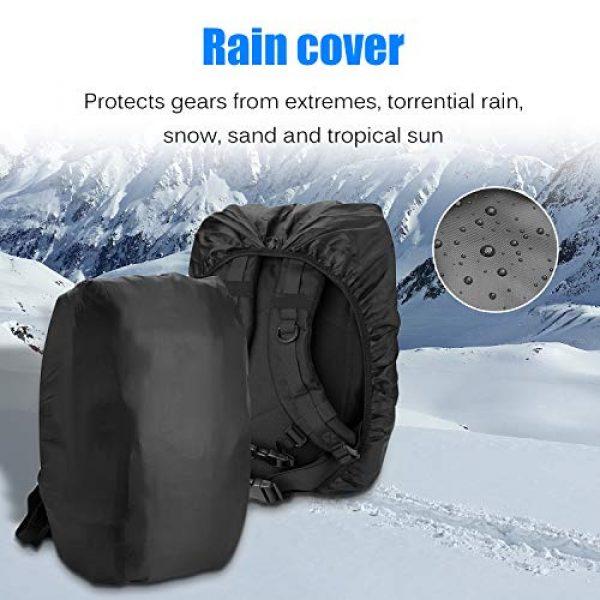 ProCase Tactical Backpack 6 ProCase Military Tactical Backpack, 48L Large Rucksack 3 Day Outdoor Army Assault Molle Pack Go Bag Backpacks -Black