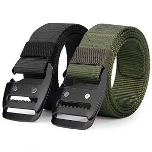 ANDY GRADE Tactical Belt 1 ANDY GRADE Tactical Rigger Belts Nylon Belts with Simple Hanging Buckle Webbing Waist Belt for Men Jeans
