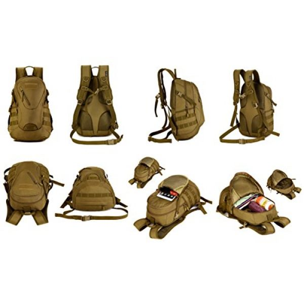 Huntvp Tactical Backpack 6 Huntvp Military MOLLE Backpack Rucksack Gear Tactical Assault Pack Student School Bag 20L for Hunting Camping Trekking Travel