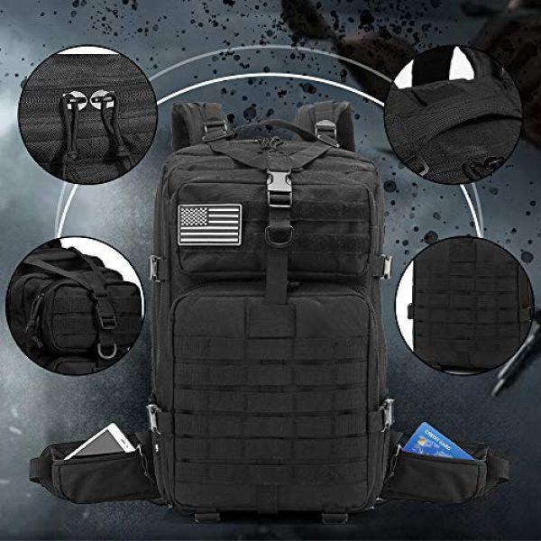 EMDMAK Tactical Backpack 3 EMDMAK Military Tactical Backpack, 42L Large Military Pack Army 3 Day Assault Pack Molle Bag Rucksack for Outdoor Hiking Camping Hunting