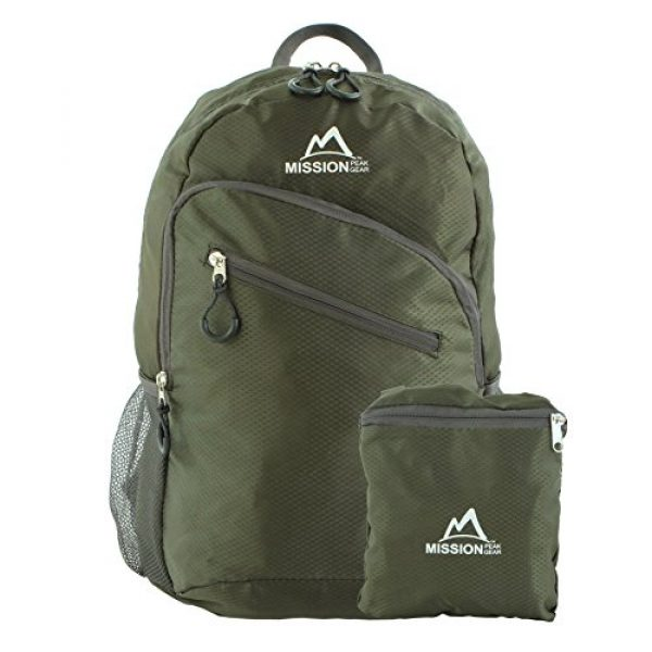 Mission Peak Gear Tactical Backpack 1 Mission Peak Gear Lite 1800 Foldable Packable Hiking Backpack Daypack, Ultra Lightweight, Durable Light Backpack, Camping, Outdoor, Travel, Biking, School, Carry On Backpack