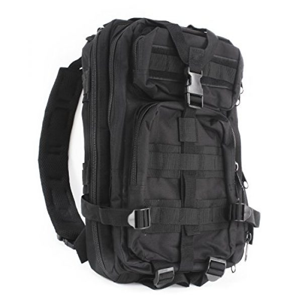 """MediTac Tactical Backpack 1 MediTac Tactical Assault Pack - First Aid Rucksack - 18"""" Military MOLLE Backpack"""