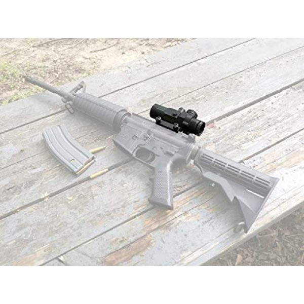 Vector Optics Rifle Scope 7 Vector Optics Calypos 3x32mm, 1/2 MOA, Red Illuminated BDC Reticel, Second Focal Plane (SFP) Compact Tactical Prism Riflescope