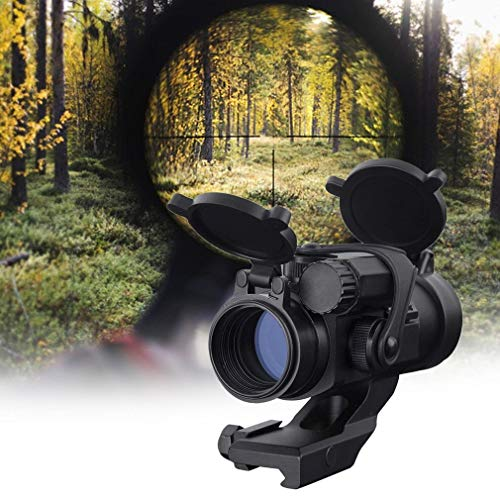KTAIS Rifle Scope 2 KTAIS Hunting Red Dot Aim Scope Optical Sight Riflescope Collimating Sights Thermal Imager for Hunting M2 (Color : Black)