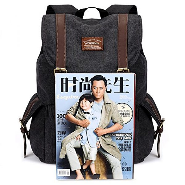 KAUKKO Tactical Backpack 6 Vintage Canvas Backpack Kaukko Outdoor Travel Hiking Rucksack School Bookbags