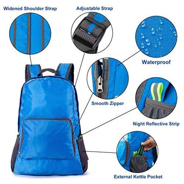 Bidiri Tactical Backpack 2 Bidiri Ultra Light Folding Backpack Waterproof Foldable Daypack Portable Travelling Pack Casual Handy Backpack for Hiking Camping Sports School for Men Women