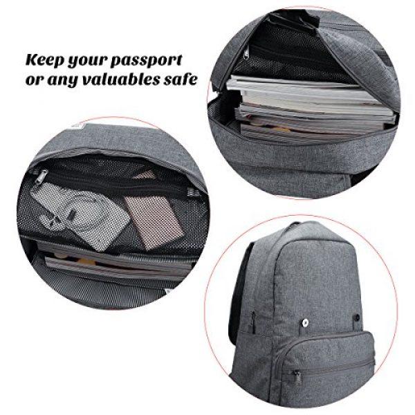 ULAK Tactical Backpack 6 ULAK Mini Backpack Lightweight Rucksack Slim Anti Theft Computer Bag