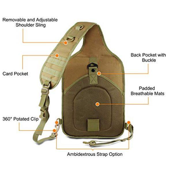 FUNANASUN Tactical Backpack 3 FUNANASUN Tactical Sling Backpack Bag Military Molle Assault Pack Rucksack Daypack for Outdoors Camping Hiking Hunting