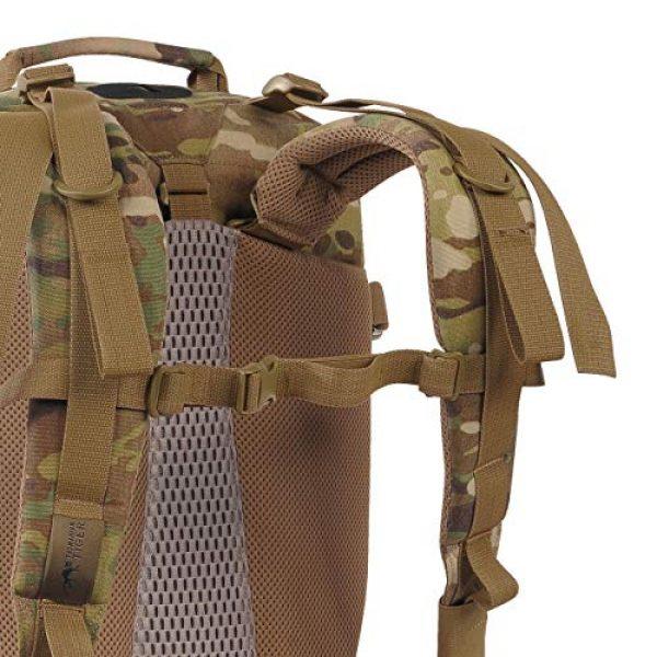 Tasmanian Tiger Tactical Backpack 7 Tasmanian Tiger Mission Pack Mk II, 37L Combat Backpack with Laser Cut MOLLE System, YKK RC Zippers