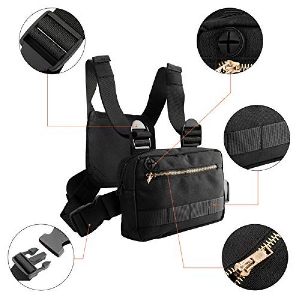 XMSound Tactical Backpack 3 XMSound Outdoor Sports Chest Bag,Tactical Chest Bag, Leisure Running, Riding Running Skateboard Hiking