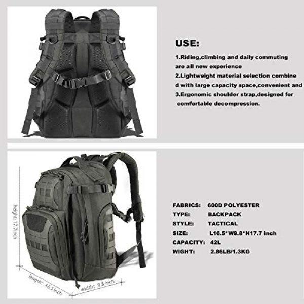 vAv YAKEDA Tactical Backpack 2 vAv YAKEDA Military Tactical Backpack for Men Army 3 Day Assault Pack 42L Large Molle Hiking Backpack