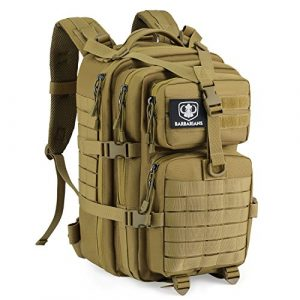 Barbarians Tactical Backpack 1 Barbarians Upgraded SBS Zipper Tactical Molle Backpack, 3 Day Assault Pack for Outdoor Hiking Camping Trekking Hunting 35L