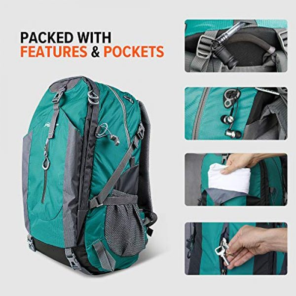 OutdoorMaster Tactical Backpack 4 OutdoorMaster Hiking Backpack 45L - Travel Carry-On Backpack w/Waterproof Cover