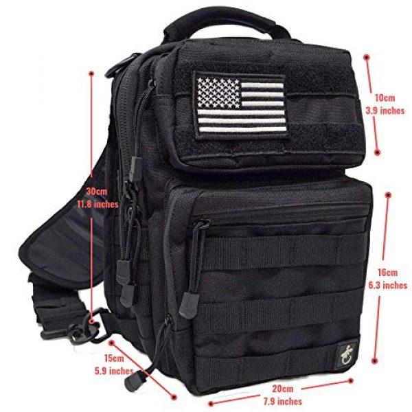 Gecko Equipments Tactical Backpack 4 Gecko Tactical Sling Backpack, Small Military Bag, Free American Flag Patch & Bottle Opener. Molle shooting range shoulder bag.