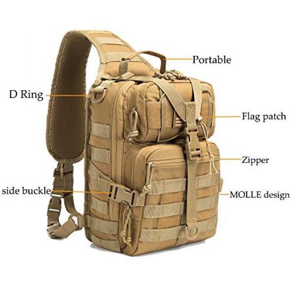 SHELCUP Tactical Backpack 2 SHELCUP EDC Sling Bag Pack, Rover Shoulder Molle Backpack, with USA Flag Patch