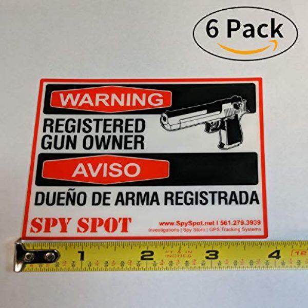 "Spy Spot Gun Owner Sticker 2 Spy Spot 6 Pack Registered Gun Owner Sticker Decal Vinyl Door or Window 4"" x 3"" UV Resistant Weatherproof"