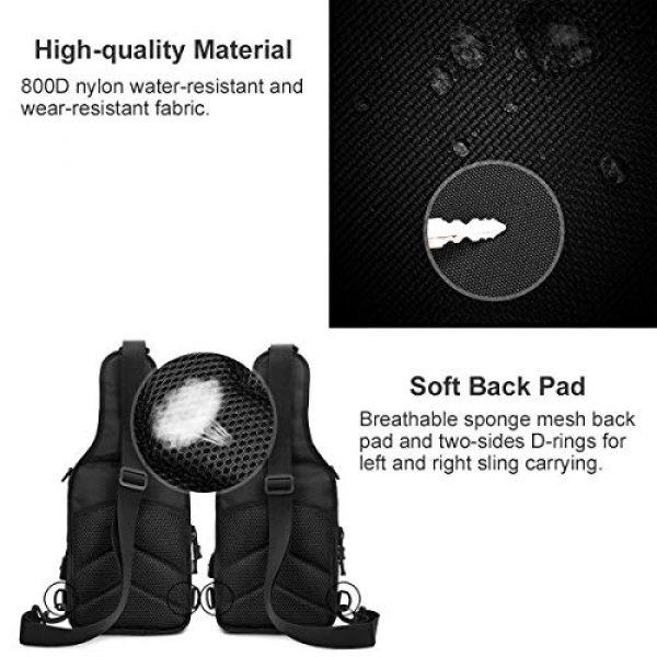 BraveHawk OUTDOORS Tactical Backpack 4 BraveHawk OUTDOORS Sling Shoulder Bag, 800D Military Nylon Multi-Purpose Daypack EDC Crossbody Pack Backpack Handbag
